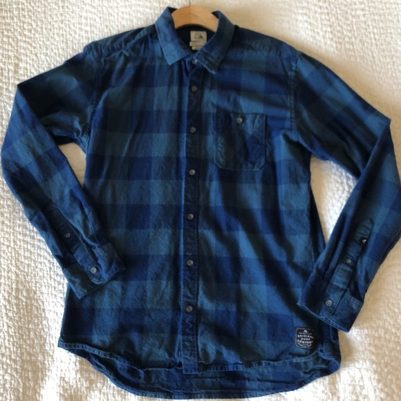 Quiksilver Other - Quiksilver Flannel shirt. Size Small Blue